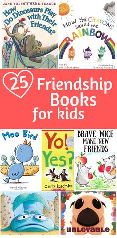 25 Loveable Friendship Books For Kids: These are our favorite Friendship Books for the classroom or home collection! 25 Loveable Friendship Books For Kids: These are our favorite Friendship Books for the classroom or home collection! Preschool Books, Book Activities, Preschool Activities, Books For Preschoolers, Emotions Preschool, Preschool Class, Neil Armstrong, Friendship Lessons, Teaching Friendship