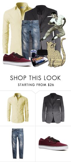 """""""Card Guard"""" by bren-johnson ❤ liked on Polyvore featuring Neil Barrett, H&M, Vans, men's fashion and menswear"""