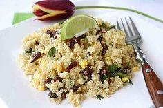 Quinoa With Black Beans, Corn & Chipotle Pepper, Lime & Honey Dressin...