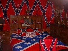 rebel flag curtains & comforter
