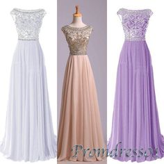 #promdress01 #promdress, 2015 amazing colorful round neck A-line long prom dress for teens,modest ball gown, bridesmaid dress -> www.promdress01.c... #coniefox #2016prom