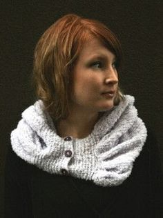 huppukauluri napeilla Crochet Chart, Knit Crochet, Caps Hats, Cowl, Knitting, Sweaters, Pattern, Accessories, Fashion