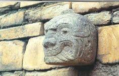 cabeza clava de Chavin de Huantar Huari Ancash Peru (callejon de conchucos.)
