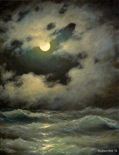 301  Peeping Moon 2 11x 14  Gallery Wrap by vladimirmesheryakov