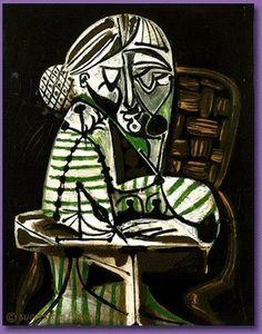 Pablo Picasso - Woman drawing (Françoise), 1951