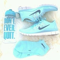 I dont own a pair of tennis shoes but I would actually wear these tiffany blue nikes