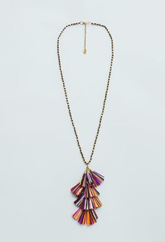 50 Fresh Outfits That Will Be Massive This Summer via @WhoWhatWear  Mango Tassel Bead Necklace ($20)