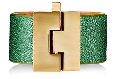 Wide Bracelet, Jade Glitter Stingray on OneKingsLane.com