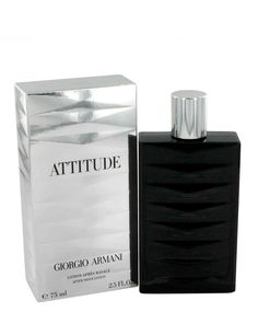 •    Attitude for Men by Giorgio Armani is a rich, elegant fragrance that is both sophisticated and modern.  •    The essence of a man by Giorgio Armani. Self-confident, true to himself and his values. The Armani Attitude man may be powerful and driven but definitely has a softer side.  •    Masculine power with elegance, this rich fragrance by Giorgio Armani is intense yet smooth