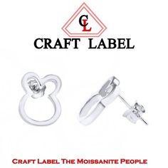 """14K Gold Teddy Bear Design Stud Earrings """"Christmas Gift"""". Starting at $1"""