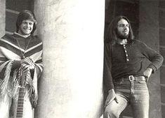 Little-known photo Russian rock musicians.  BG Aquarium and Seva 1975