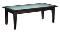 Dawson tables. Rectangular Coffee Table with Glass Top, línea llena de elegancia que puedes llevara a tu hogar! #Mober