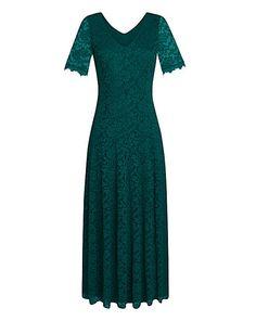 JOANNA HOPE Lace Maxi Dress in black?