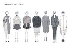 Fashion Sketchbook - fashion illustration; final lineup drawings; fashion design portfolio // Pin La Ghim