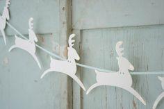 reindeer garland bunting