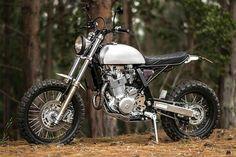'Mamba' Suzuki DR650 – Pasquale Motors Honda Scrambler, Cafe Racer Motorcycle, Street Scrambler, Motorcycle Garage, Motorcycle Helmets, Custom Motorcycles, Custom Bikes, Cars And Motorcycles, Custom Choppers