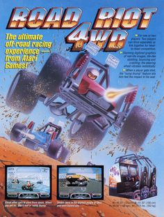 The Arcade Flyer Archive - Video Game Flyers: Road Riot 4WD, Atari Games Corporation