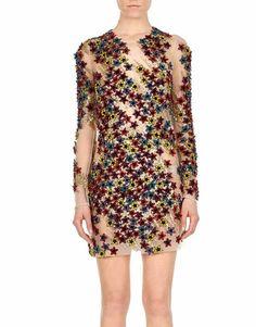 Blumarine Multicolor Embroidered Minidress