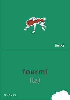 Fourmi #flience #animal #insects #english #education #flashcard #language Spanish Flashcards, Vocabulary, Insects, Language, English, Animal, Education, German