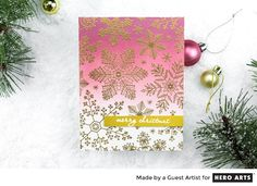 Ombre Snowflake Card by Taheerah Atchia for Hero Arts