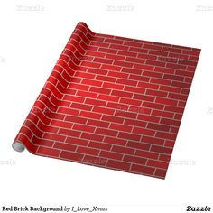 Red #Brick Background Wrapping Paper / #DIY Decorating Paper  by #I_Love_Xmas  #Zazzle #Gravityx9 -