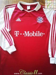 Relive Bayern Munich's 2003/2004 season with this original Adidas home long sleeve football shirt.