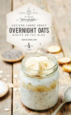 Overnight oats are great for anyone on the go. We encourage you to experiment to figure out what works for you. You can make them one eve for the week. Honey Recipes, Oatmeal Recipes, Great Recipes, Brunch Recipes, Summer Recipes, Chia Seed Overnight Oats, Easy To Make Breakfast, Nutritious Breakfast, Nutrition
