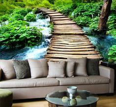 Fotomurales Puente de madera