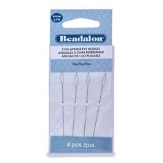 Beadalon Collapsible Eye Needles 2.5-Inch Fine 4 Pack