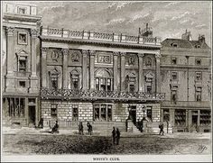 White's is a gentleman's club in St James's, London, regarded as one of the most exclusive of its kind. It's the oldest gentleman's club in London, founded in Vintage London, Old London, Victorian London, Victorian Gothic, Gothic Lolita, Gentlemans Club, London Clubs, Regency Era, His Travel