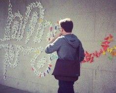 Origami Typography Street Art Adorns Museum Exterior [Pics] Beautiful simplicity!