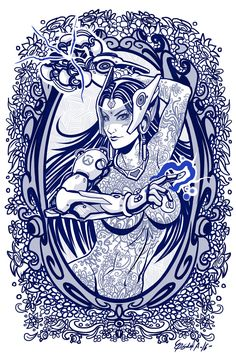 Blue collection Edgar Sandoval A Costa Rica, Overwatch Symmetra, Thundercats, Illustration, My Arts, Deviantart, Sketches, Hero, Gallery