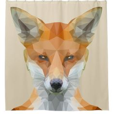 Cute low poly fox napkins - animal gift ideas animals and pets diy customize Funny Shower Curtains, Custom Shower Curtains, Diy Curtains, Pet Gifts, Home Gifts, Geometric Fox, Cool Coasters, Fox Print, Cool Pets