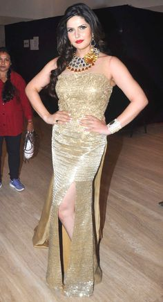 Zarine Khan at the IBJA Award ceremony.