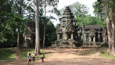 Thommanon Temple in Angkor, Siem Reap Cambodia Date: Beginning of 12th century, Reign: Suryavarman II, Religion: Hindu