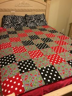 Cherries, Checkers, and Dots Quilt by LoveErinMarie on Etsy