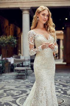 1001 + modèles incroyables de la robe de mariée avec manche longue 0261779ebc69