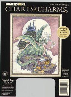 Dragon and Castle 1 of 5.   Solo Patrones Punto Cruz | Aprender manualidades es facilisimo.com