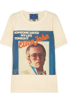 5a7cc0ac1 Gucci - Elton John printed cotton-jersey T-shirt. Gucci FashionGreat T  ShirtsFlare ...