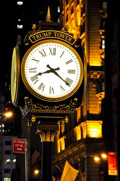 New York - Trump Tower Clock Tower Clock, Dutch Republic, Unique Clocks, Trump Tower, Staten Island, Usa News, Central Park, Towers, Travel Usa