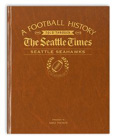 Seattle Times Seattle Seahawks Personalized Newspaper Hardcover