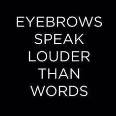 Eyebrows speaker louder