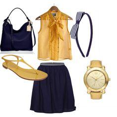 sailor chic.. love navy + gold