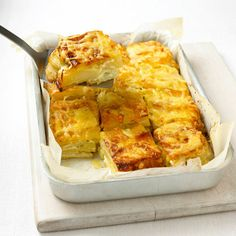 Mary Berry's Cheese topped Dauphinoise potatoes recipe. For the full recipe and more, click on the picture or visit RedOnline.co.uk