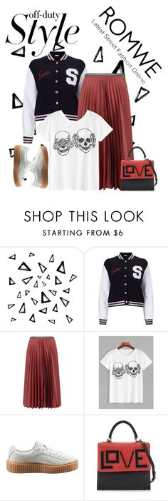 """Withe skull printed t-shirt"" by suzanne-valadon ❤ liked on Polyvore featuring Nika, Miss Selfridge, Leur Logette, Puma and Les Petits Joueurs"
