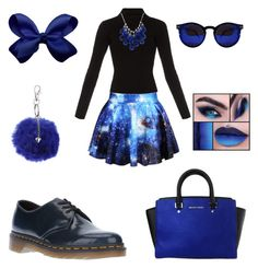 """""""blue"""" by martyswordrobe on Polyvore featuring Chicnova Fashion, Haider Ackermann, Dr. Martens, MICHAEL Michael Kors, Ten Thousand Things and Dorothy Perkins"""