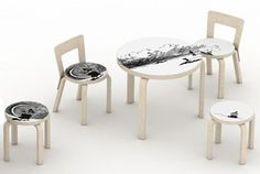 The Moomins in Artek's Classic Furniture - Nordic Design Kids Furniture, Furniture Design, Alvar Aalto, Kids Corner, Nordic Design, Classic Furniture, Kid Spaces, Furniture Inspiration, Cool Designs
