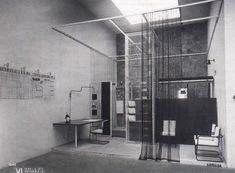 Franco Albini.'Stanza per un uomo' per la VI Triennale di Milano [1936].