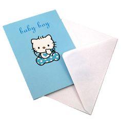Hello Kitty Baby Boy   Hello Kitty Baby Boy Card