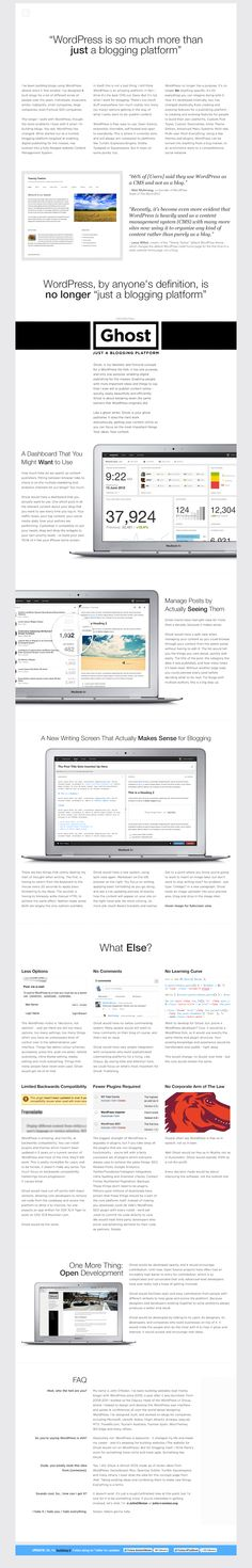 john.onolan.org/ghost/ - Ghost Concept Page - Designed by John O'Nolan. Captured March 2013. Kinds Of People, Page Design, Ghost Ghost, March 2013, Concept, Inspiration, Biblical Inspiration, Inspirational